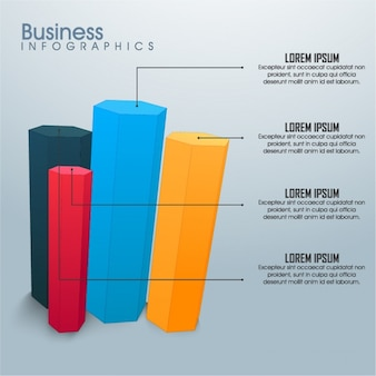 Geometric business infographic with four options