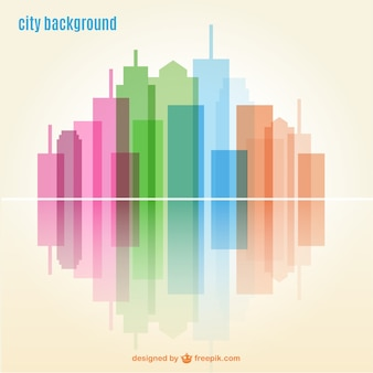 Geometric city background