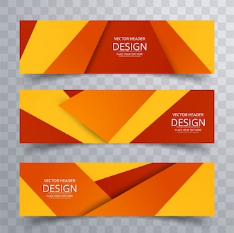 Geometric colorful banners