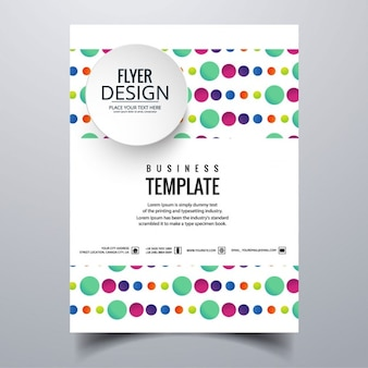 Geometric colorful brochure with circles