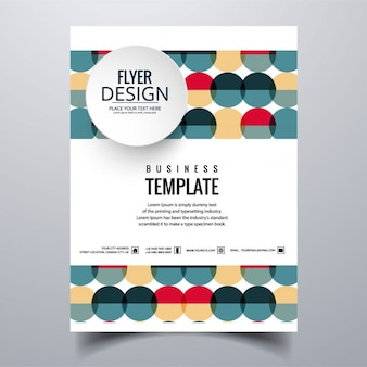 Geometric colorful brochure with spheres
