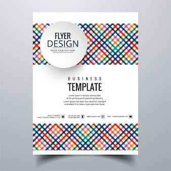 Geometric colorful brochure with stripes