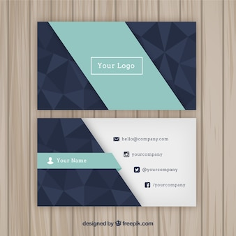 Geometric company card with polygons