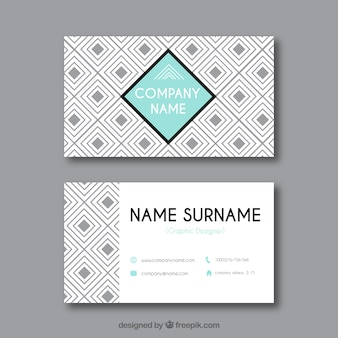 Geometric corporate card