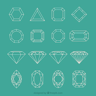 Geometric diamond collection
