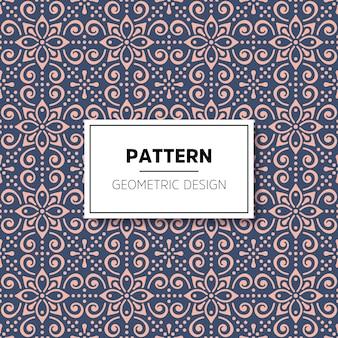 エスニックスタイルの幾何学模様のシームレスパターン