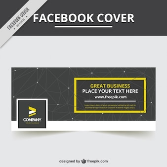 Geometric facebook cover