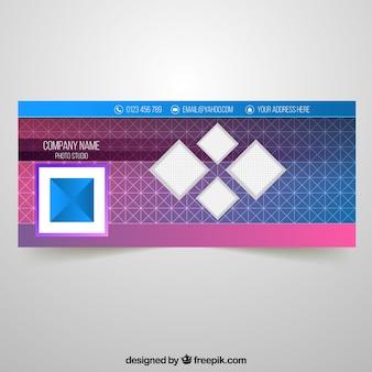 幾何学的なfacebookカバー