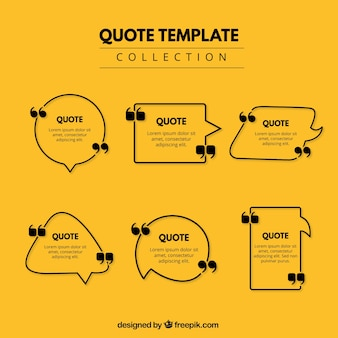 Geometric frames for quotes
