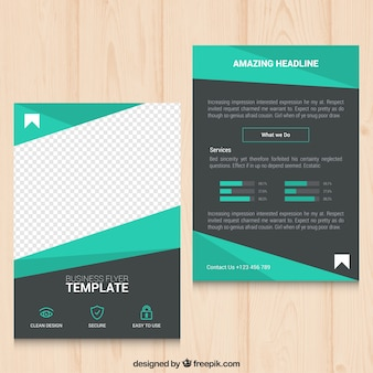 Geometric green business flyer