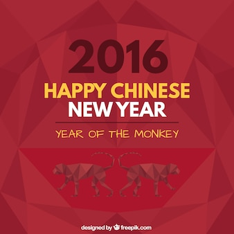 Geometric happy chinese new year background