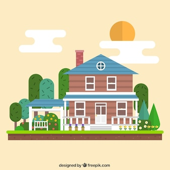 Geometric house illustration