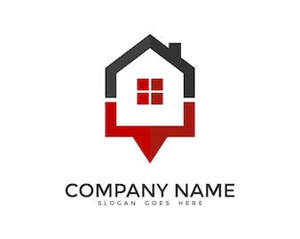 Geometric house logo design