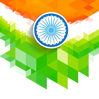 Geometric indian flag design