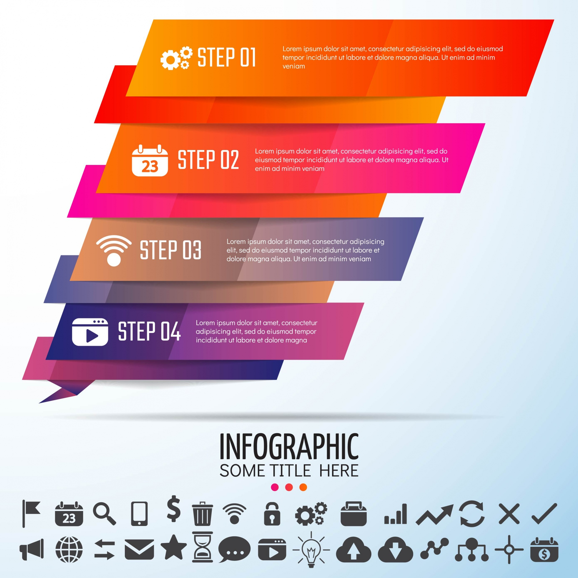 Geometric Infographics Template Design