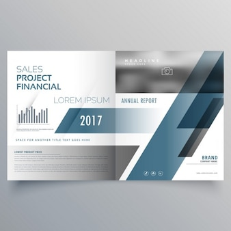 Geometric leaflet template with gray shapes