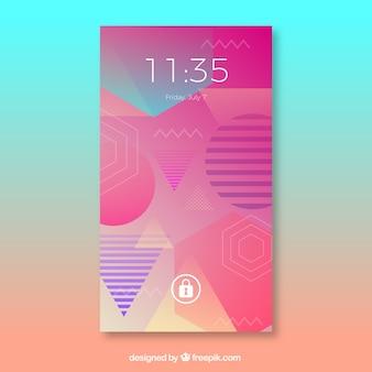 Geometric mobile wallpaper