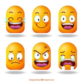Geometric pack of fantastic emojis