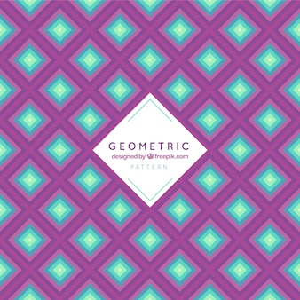 Geometric pattern of abstract shapes in flat design