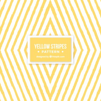 Geometric pattern of yellow watercolor stripes