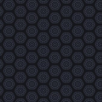 Geometric pattern with dark flowers