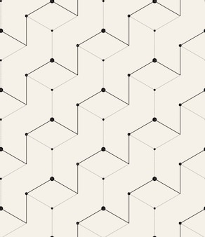 Geometric pattern with lines and dots, 3d effect