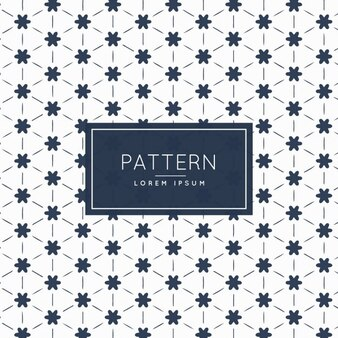 Geometric pattern with little flowers