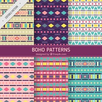 Geometric patterns in boho style