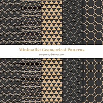 Geometric patterns in minimalist style