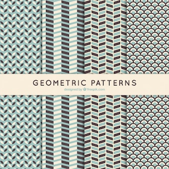 Geometric patterns set in vintage style