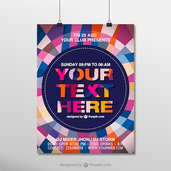 Geometric poster mock-up