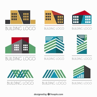Geometric real estate logos