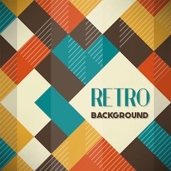 Geometric retro background