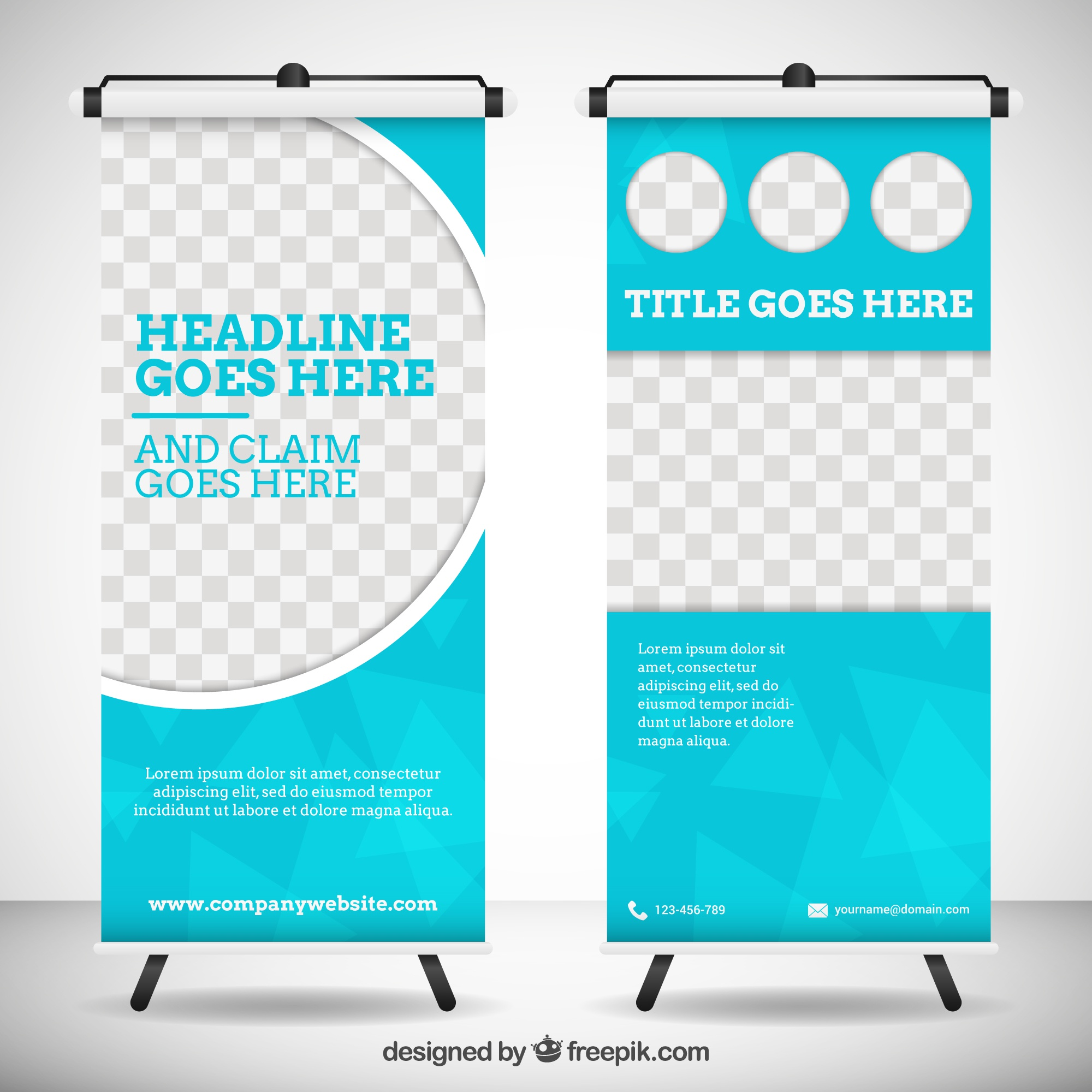 Geometric roll up template