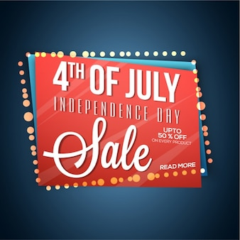 Geometric sale background for independence day