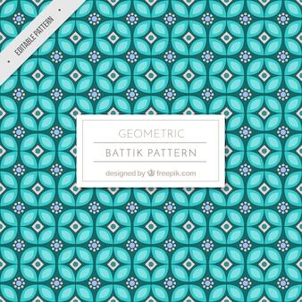 幾何学的形状のバティックパターン