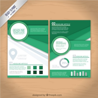 Geometric shapes flyer