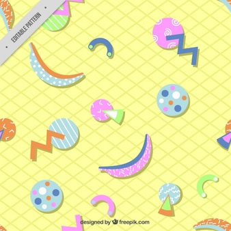 Geometric shapes in colors pattern