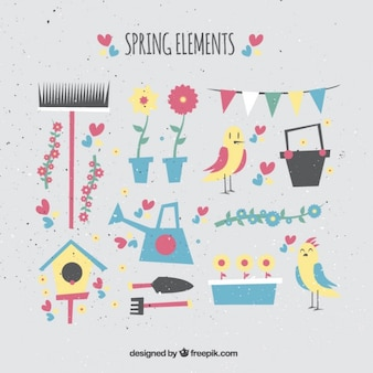 Geometric spring elements in vintage style