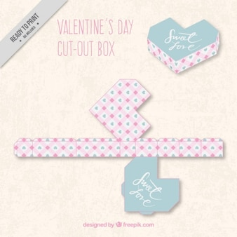 Geometric valentines day cut out box