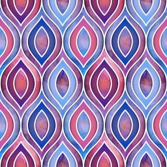 水彩的な幾何学的デザイン