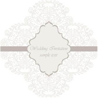 幾何学的結婚式招待状テンプレート