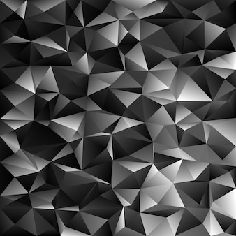 Geometrical abstract irregular triangle background - polygon vector illustration from dark grey triangles