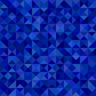 幾何学的な三角形のモザイクパターンの背景 - 青色の三角形からのベクトルグラフィック