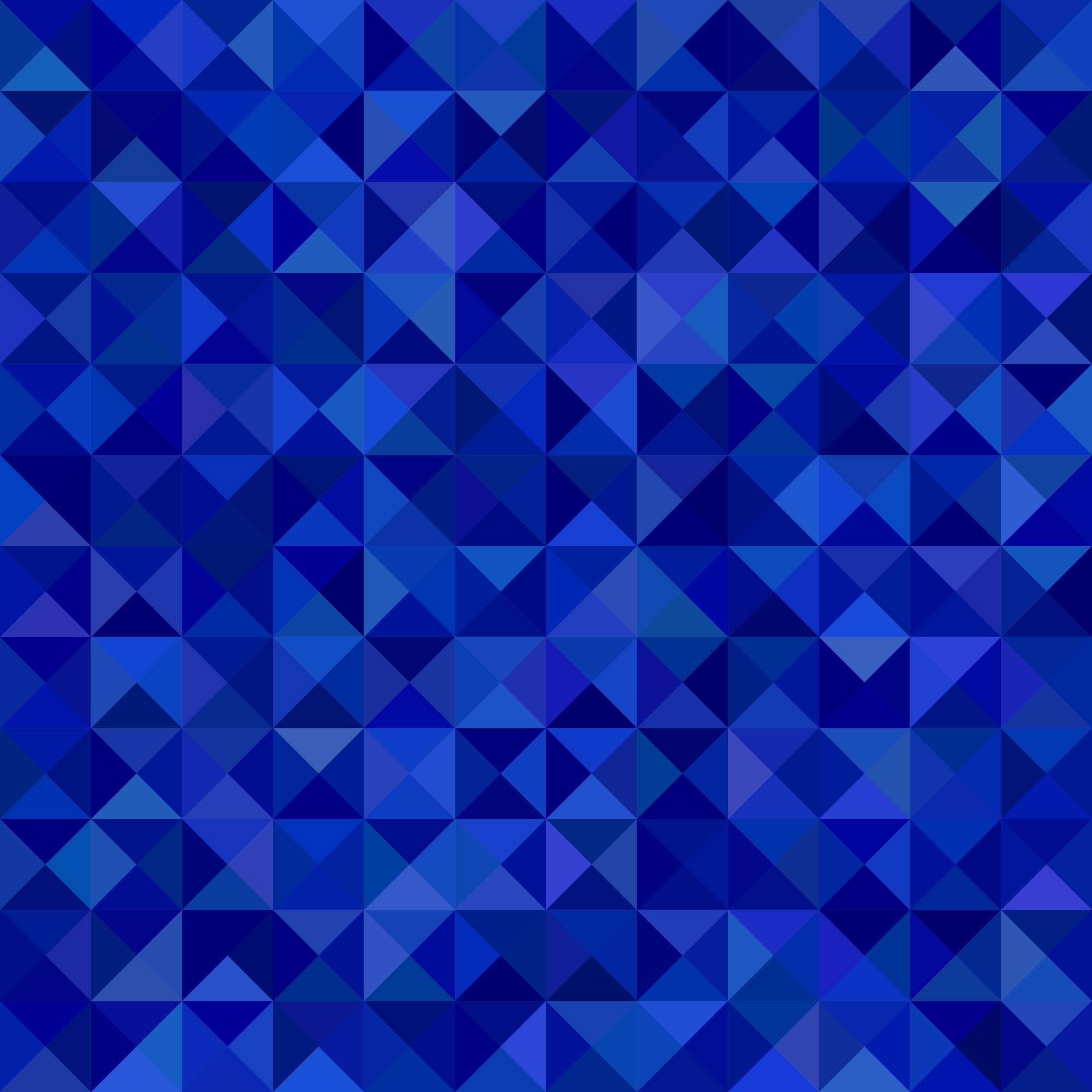 Geometrical abstract triangle mosaic pattern background - vector graphic from triangles in blue tones