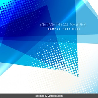 Geometrical background with blue shapes