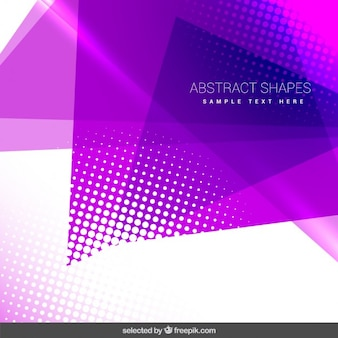 Geometrical background with purple shapes
