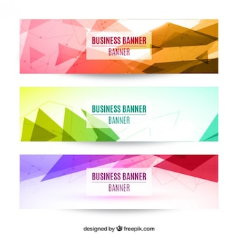 Geometrical banners in colors