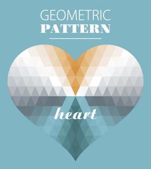 Geometrical heart in kaleidoscope style