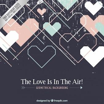 Geometrical hearts background